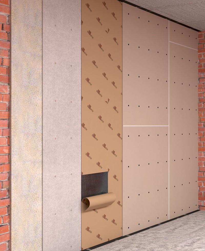 Бескаркасная звукоизоляция стен (БК-стандарт)